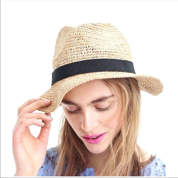 2a6772ec4e2c8 J. Crew Accessories - J Crew Packable Straw Hat